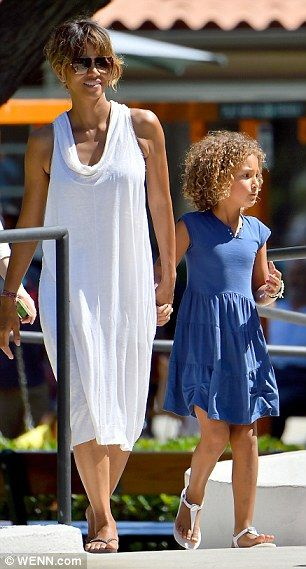 Bone of contention: Halle shares the cutie with ex-partner Gabriel Aubry, 39, and they are currently embroiled in a child support battle. The actress is said to want the amount she pays him cut from $16,000 to $3,800