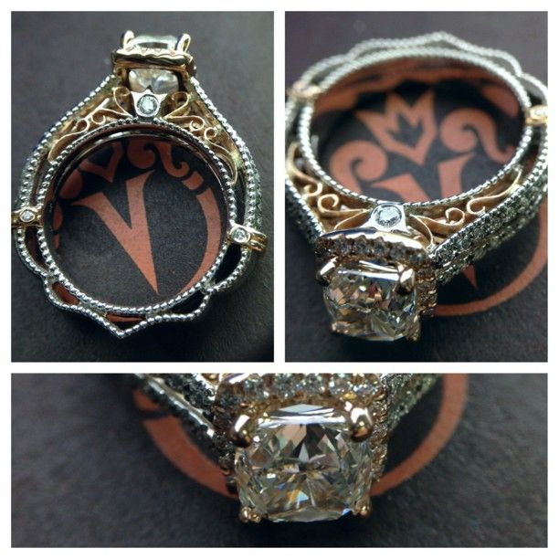 Custom VENETIAN 5007CU Engagement Ring From The New Venetian Collection In White And Rose Gold