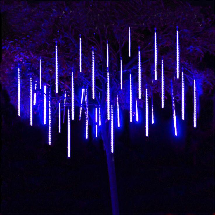 Thrisdar 8 шт./компл. 30 см 50 см метеоритный дождь трубы строки свет падал снег Новогодние товары Tree огни свадьба свет сада
