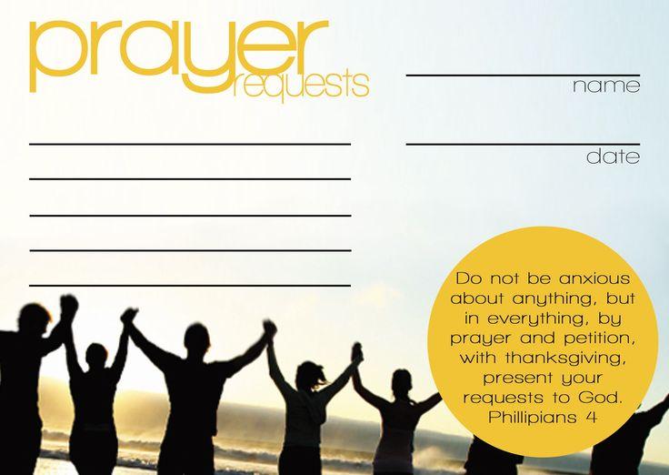 prayer request cards templates