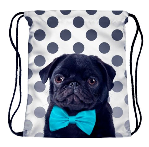 Black Pug Travel Bag