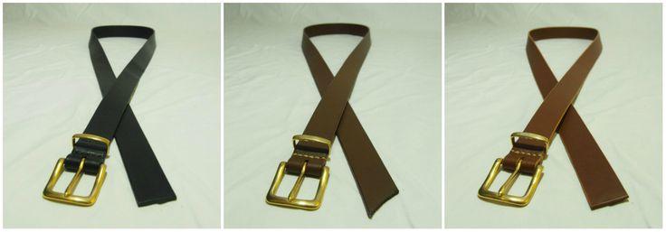 Unisex 3cm opasky s masivní bronzovou přezkou.