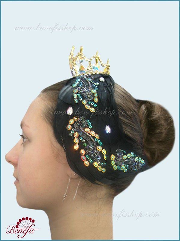 Headpiece for black swan (Odile) - S 0017A  USD 224 - for adults