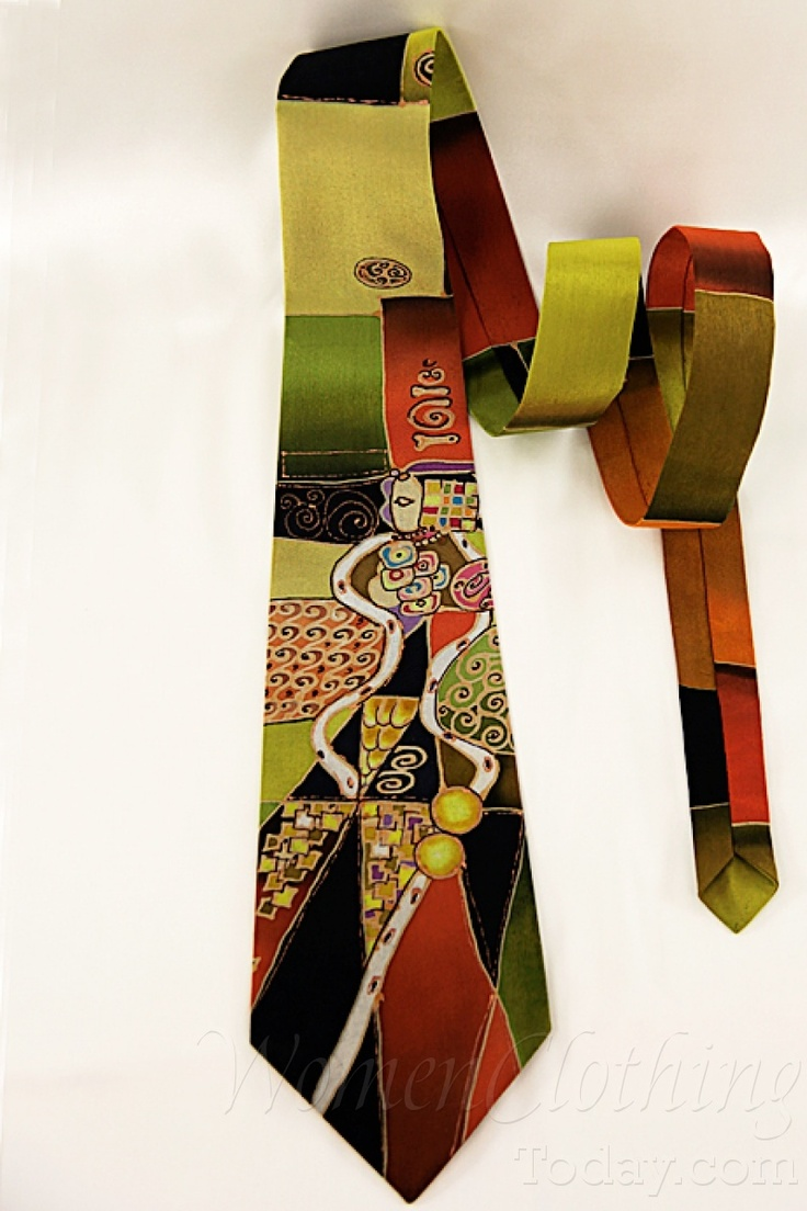 womenclothingtoday.com Silk Tie Gustav Klimt Inspiration