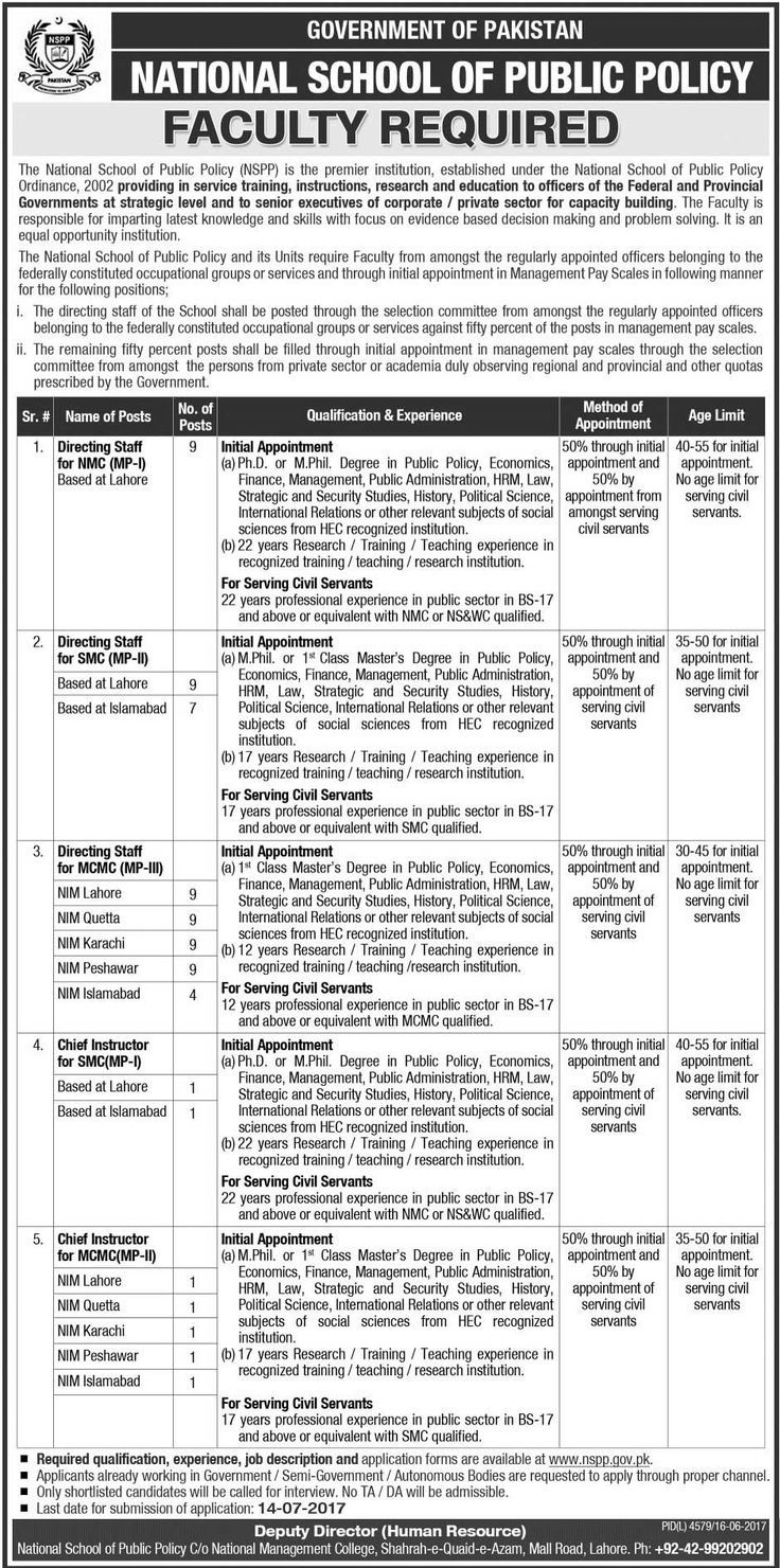 National School of Public Policy Jobs