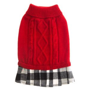 Martha Stewart Pets® Red Buffalo Checker Dress | Dresses | PetSmart