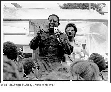 Rev. Ralph Abernathy, leader of the Poor People's Campaign, addresses a group in Washington, D.C., 1968. | photo by Constantine Manos/Magnum Photos