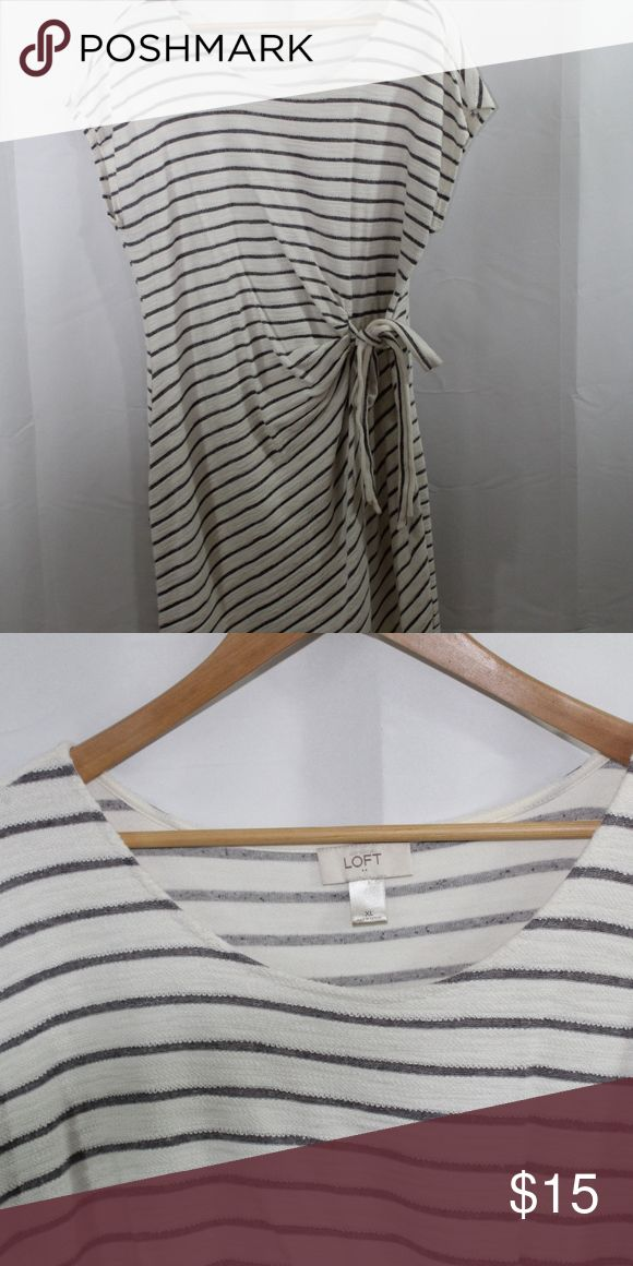 Spotted while shopping on Poshmark: Striped Dress! #poshmark #fashion #shopping #style #LOFT #Dresses & Skirts