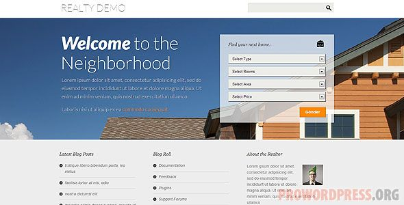 Realty Real Estate Wordpress Theme Download