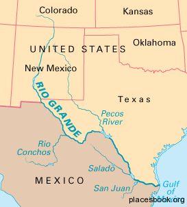 Rio Grande On Map Of Us Usa Map Rio Grande River