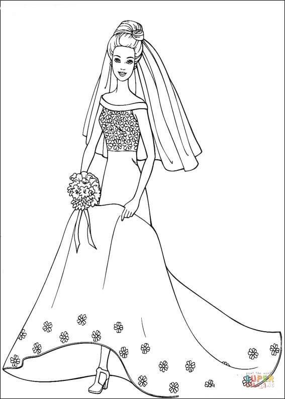 Barbie Coloring Pages Super Coloring Pics