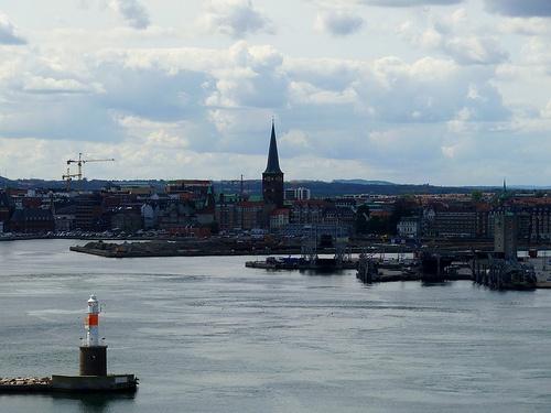 Sailing away from Aarhus,Denmark