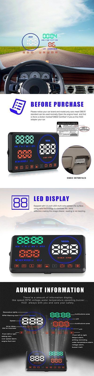 Replacement Faceplates: Head Up Display Obd2,Techstick 5.5 Inch M9 Car Hud Heads Up Display With Board, -> BUY IT NOW ONLY: $85.25 on eBay!