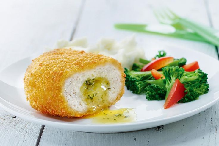 Colonial Farm - Chicken Kiev!  Boneless parcels filled with garlic butter and parsley coated in a unique golden crumb.