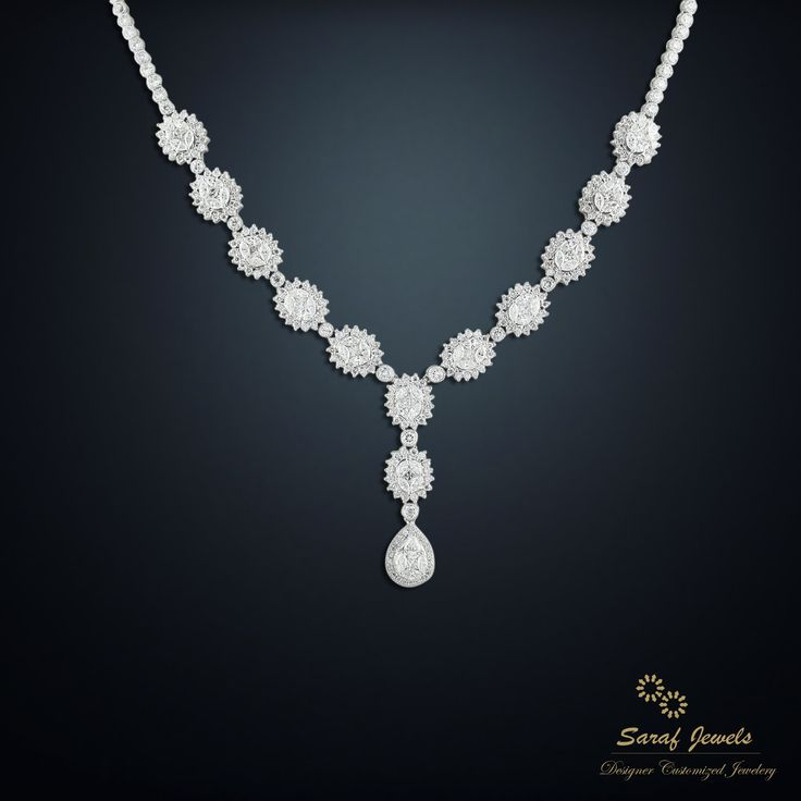 Looking for alluring priceless gift for your loved one, your search ends here!! Shop exclusive diamond necklace from Saraf Jewels and cherish the most memorable moments of love life. Call: 0141-4026333 or Whatsapp: +91 9829055333 #diamond #diamondjewellery #diamondnecklace #diamondearrings #necklace #earrings #jewellery #gold #finejewellery #jaipur #India