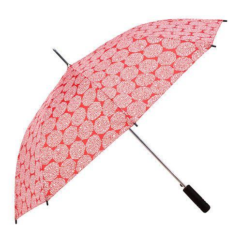 KNALLA Ombrello IKEA Per aprire l'ombrello ti basta una mano sola, infatti è sufficiente premere l'apposito pulsante.