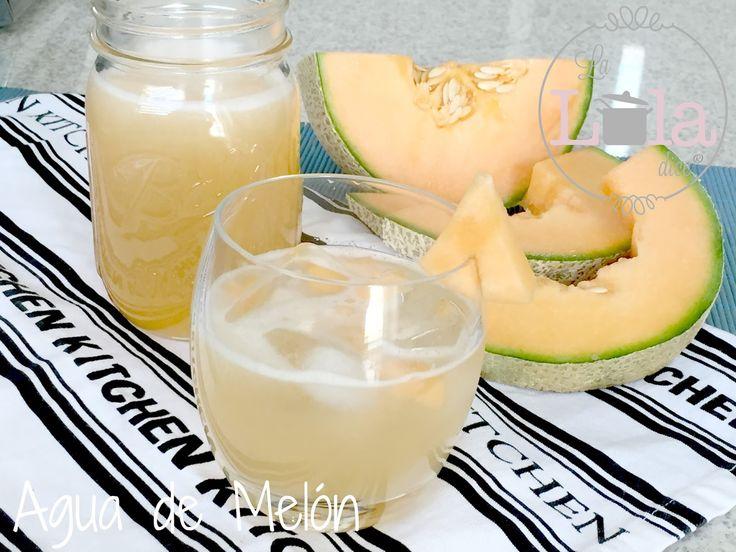 Agua de Melón, agua fresca de melon
