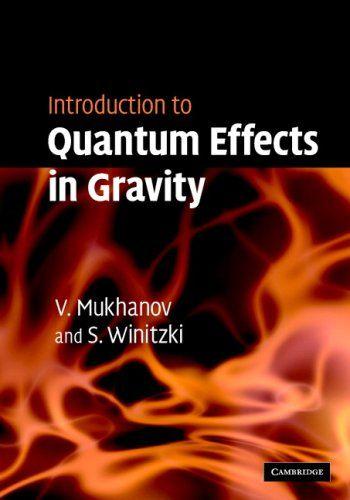 Resultado de imagen para introduction to quantum effects mukhanov
