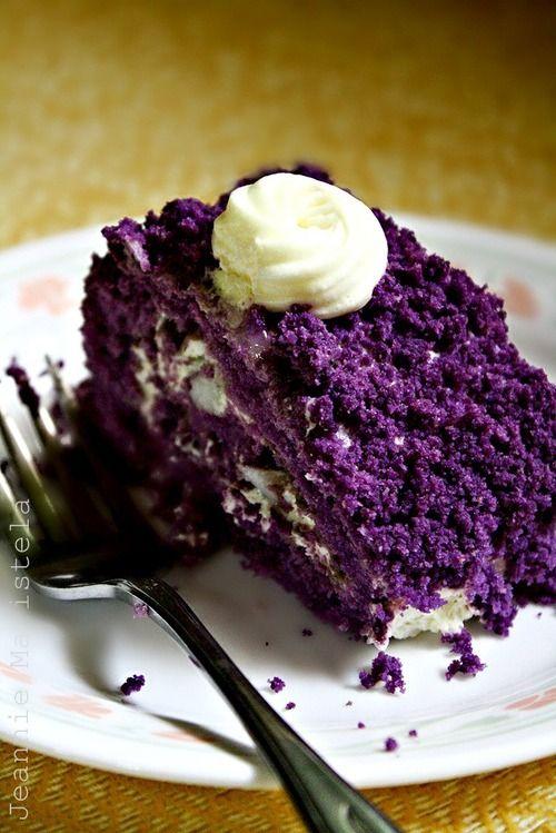 purple sweet baked potato cake... it's beautiful