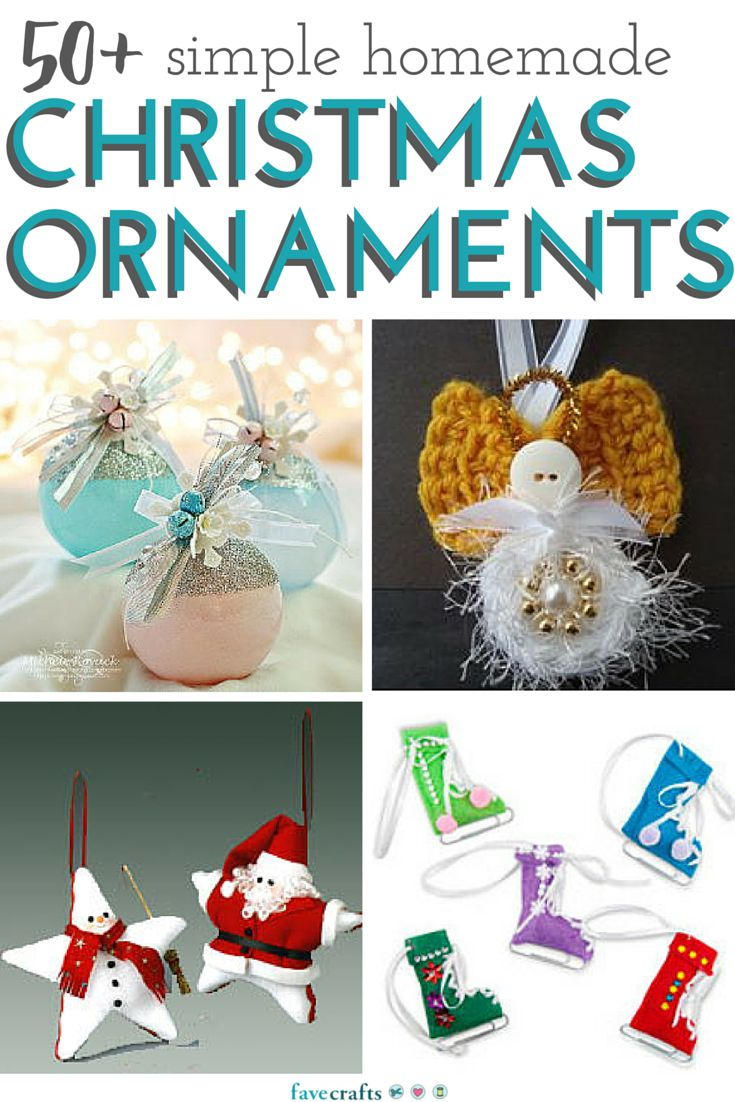 50+ Simple Homemade Christmas Ornaments - Check out our list of over 50 DIY Christmas ornaments you can make this winter.