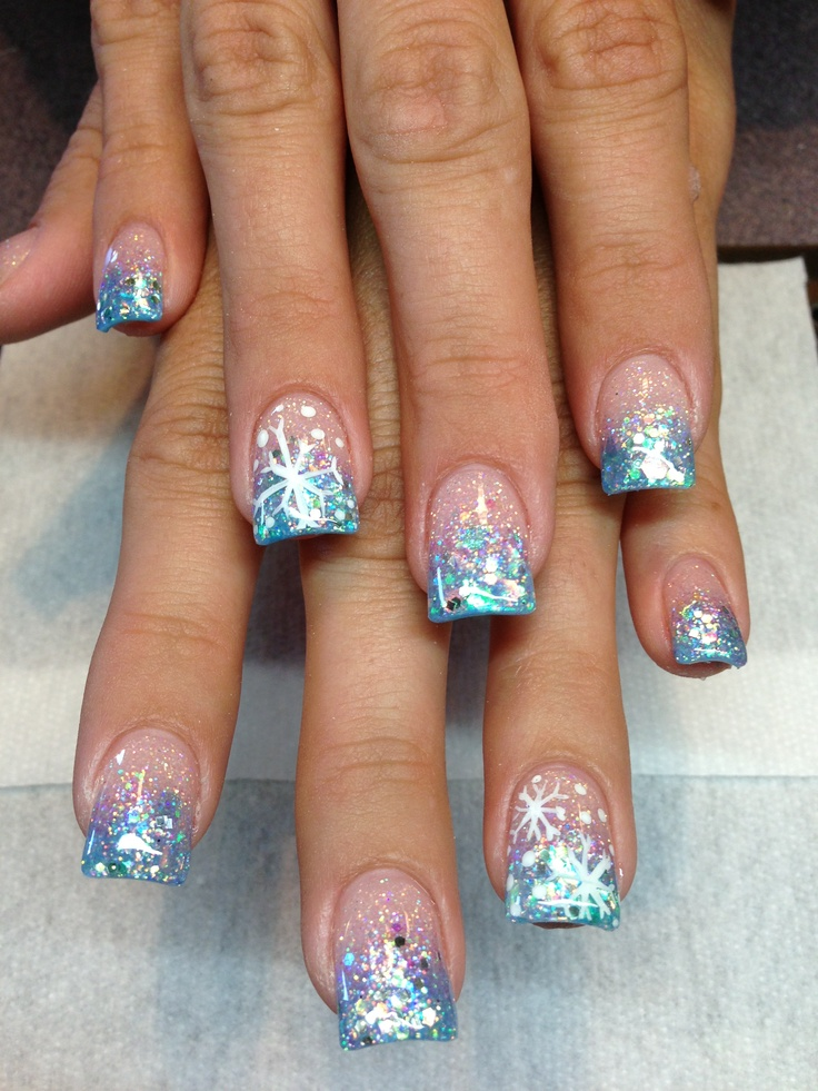 nails. winter wonderland
