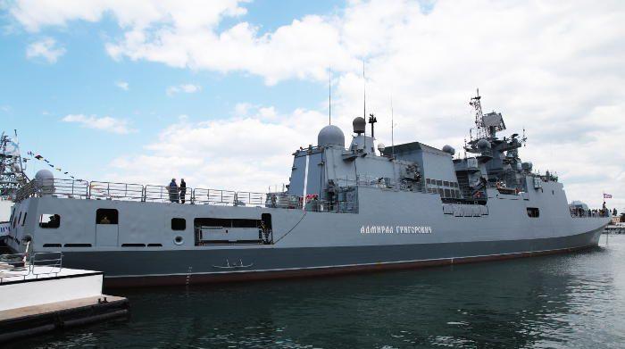 """Российский фрегат """"Адмирал Григорович"""" вошел в Средиземное море"""