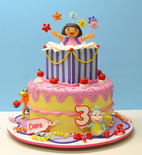 1000 Images About Dora Cake On Pinterest