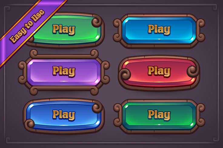 Fantasy Game Button Maker by Vectricity Designs on @creativemarket