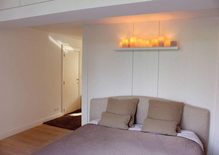 Wandlamp LED design brons-nikkel-chroom-wit 10 kaarsen 120cm breed