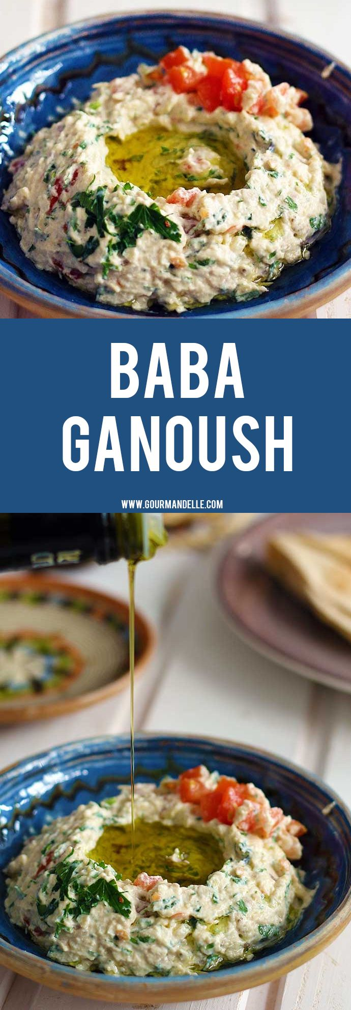 Learn how to make baba ganoush, the easy way! This delicious, fresh and flavorful Middle Eastern eggplant appetizer will surely become your favorite! #eggplant #dip #appetizer