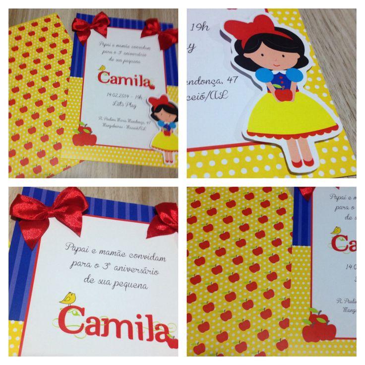 Snow white birthday invitation.