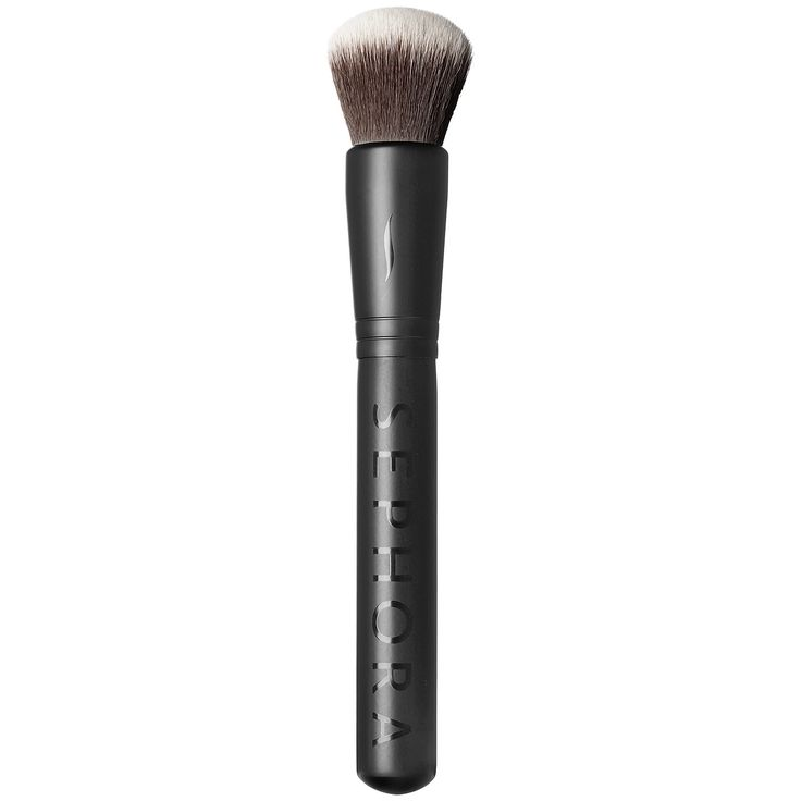 What it is: A brush with antibacterial bristles specially designed to apply mineral powders.  What it does: Ideal for loose or pressed formulas, the shape of this brush head makes it easier to make the circular movements required for applying miner
