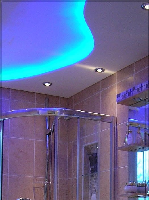 8 best images about led strip lights in bathrooms on for Contemporary bathroom ceiling lights