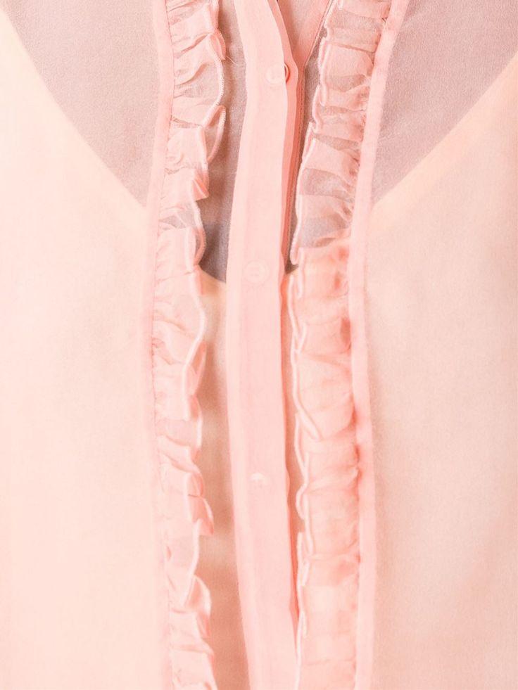 Rochas рубашка с оборками