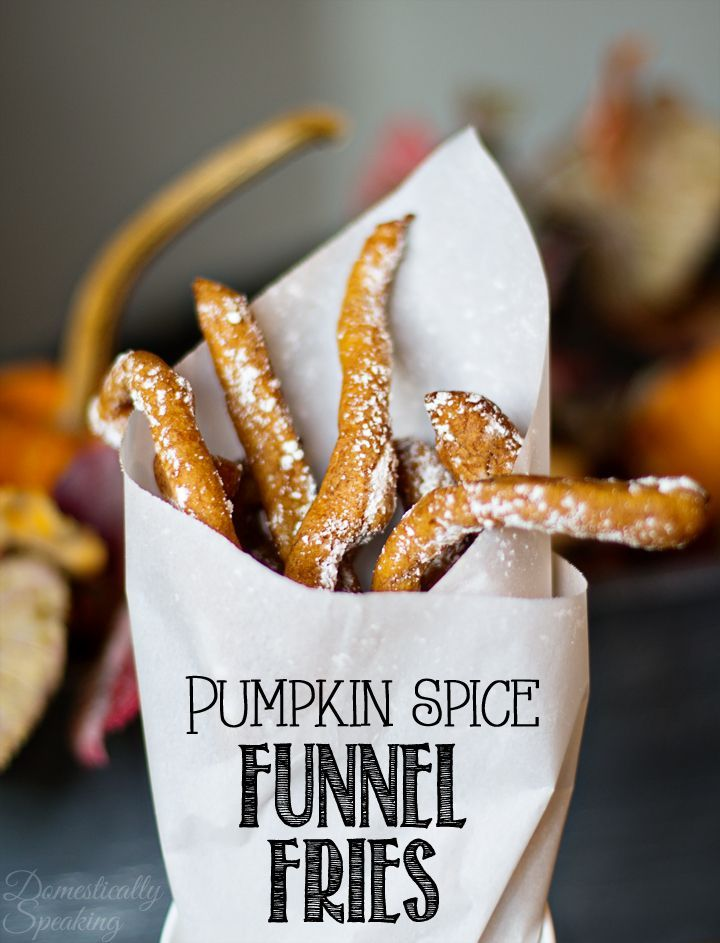 Pumpkin Spice Funnel Fries - oh my! These are the ultimate fall treat... packed…