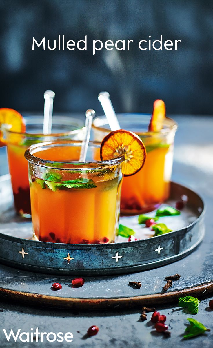 A mix of pear cider, rum, pomegranate juice and clementines form this warming festive tipple. Garnish with fresh mint leaves and caramelised clementines to make it party appropriate. Check out the Waitrose website for the full recipe.