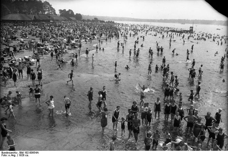 The beach at Wannsee in West Berlin.