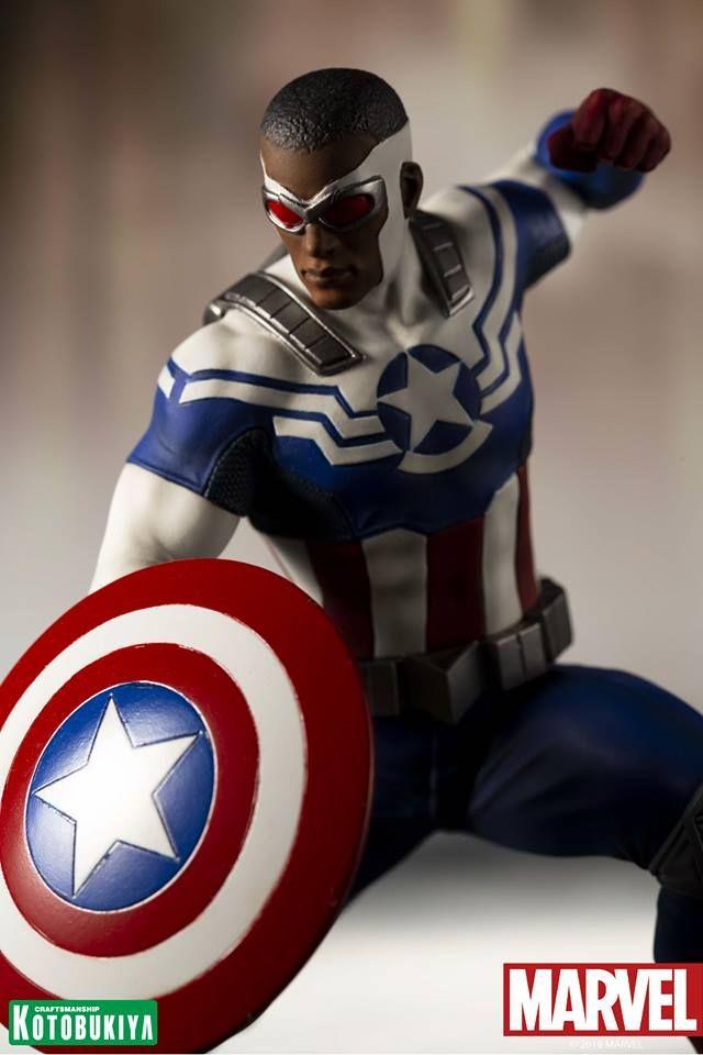 0613dc9dbe2 Sam Wilson As Captain America ARTFX Figure Revealed Vingadores