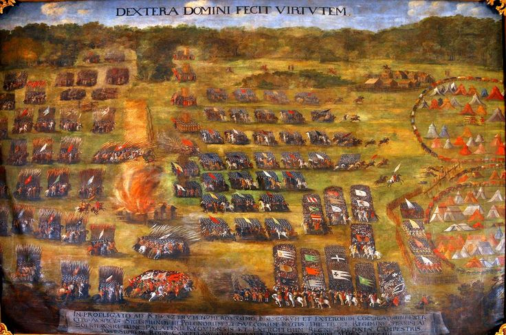 Bitwa pod Kłuszynem (obraz autorstwa Szymona Boguszowicza, ze zbiorów Lwowskiej Galerii Sztuki, około 1620 roku) / https://histmag.org/grafika/articles4/bitwa-pod-kluszynem/kluszyn2.jpg