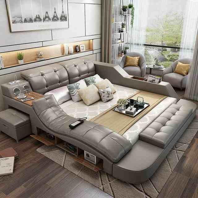 Source Fashion Design Modern Multifunctional Bed Tatami 5 Parts