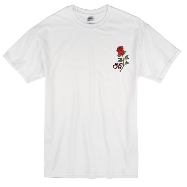 Selena Gomes Rose Pocket T-shirt
