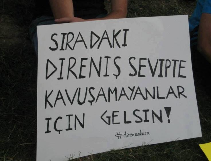 Taksim Gezi Parkı direnişi pankartı :)