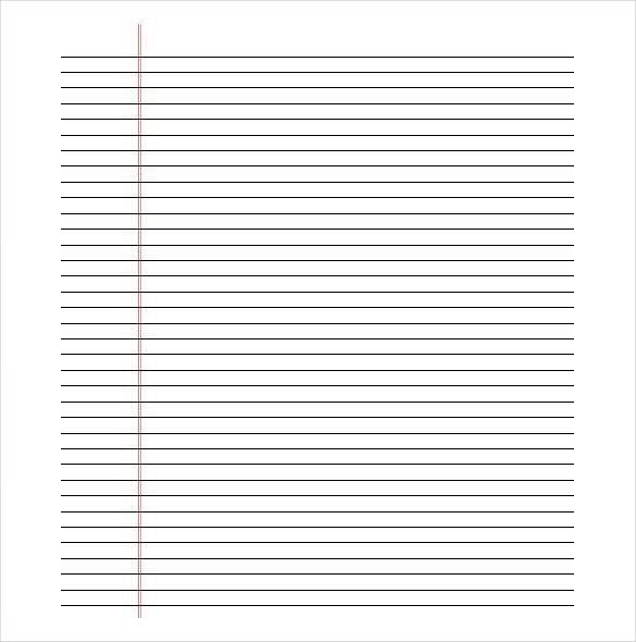 Lined Paper Template 12 Free Word Excel Pdf Documents Regarding Notebook Paper Background For Word22 Printable Lined Paper Ruled Paper Paper Template Free