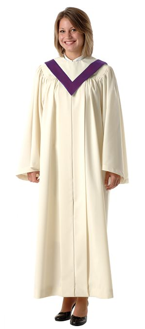 """Choose from our extensive selection of colors and fabrics to create a look that is just right for your choir. The OCTAVE ROBE is shown with our Choir Stole 757 sold separatelyCustom Made. Whether you are coordinating your choir's  appearance with your  sanctuary décor, or you are expressing your  choir's musical  """"personality"""" through color and design, we'll work with  you to create an  ensemble that is just right for your choir."""
