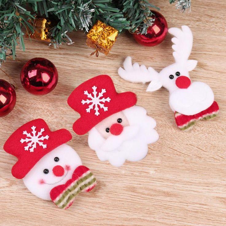Cheap Moda Lindo Muneco De Nieve Navidad Santa Claus Renos LLEVO Broche Tela