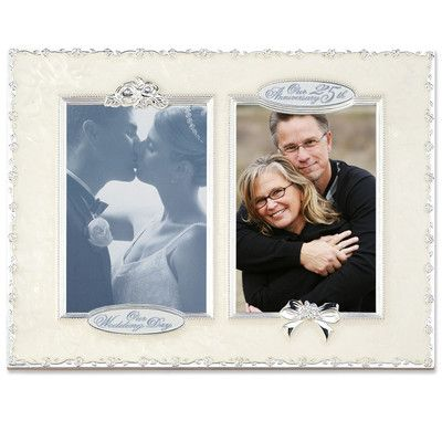 Lawrence Frames 25th Anniversary Double Opening Picture Frame Size: Double