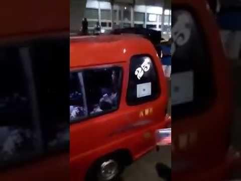 Proses penembakan tersangka Prampokan di angkot