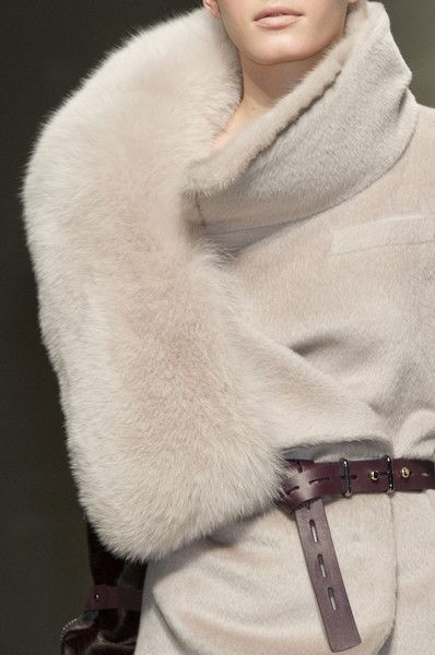 cuddle up in Gianfranco Ferré at Milan Fashion Week Fall 2012 - StyleBistro