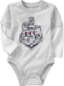 2-in-1 Graphic Bodysuits for Baby - Not usually into the graphic stuff, but this is awesome.