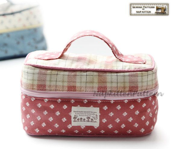 Zippered bag sewing pattern little bucket.  This would make a cute lunch box.